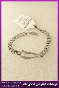 دستبند نیمانی نقره ای استیل