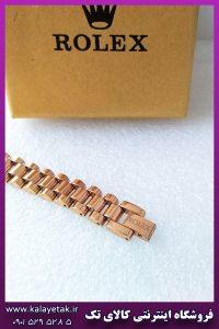دستبند رولکس لوگو دار رزگلد استیل