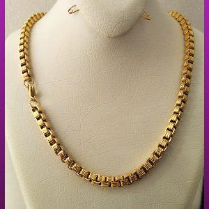 زنجیر ونیزی آجری طلایی استیل