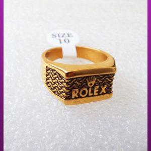 انگشتر رولکس طلایی استیل