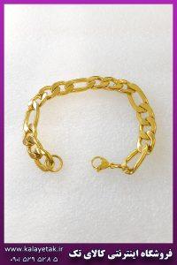 دستبند فیگارو طلایی استیل