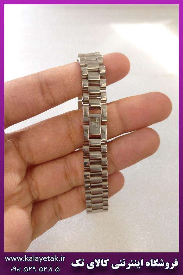 دستبند ساعتی رولکس نقره ای استیل